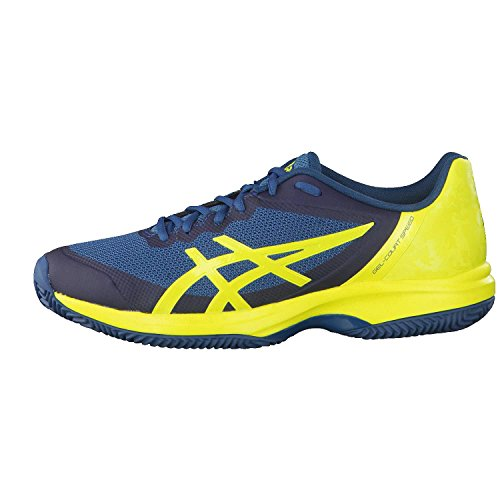 Asics Gel-Court Speed Clay, Scarpe da Tennis Uomo Multicolore (Ink Blue/Sulphur Spring/Turkish Tile 4589)
