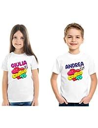T-Shirt Bianca Me Contro Te per Bambini Personalizzata, Stampa Solo Fronte - Personalizzazione Inclusa