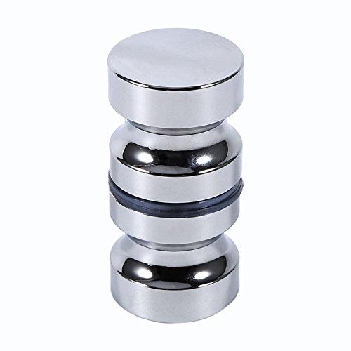 Tirador para puerta de muebles Manija de puerta de la aleación de aluminio para el gabinete de la ducha del cuarto de baño del botón de cristal solo