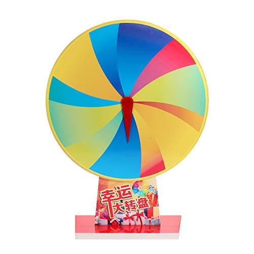 ortune-Preis-Rad Blank PVC-Farbe Preis Räder Tabletop Editierbar Karneval Game Kit ()