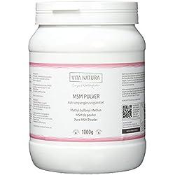 MSM Pulver (Methylsulfonylmethan) 1000g | Premiumqualität | Reinheitsgrad von 99,9% | Hergestellt in den USA