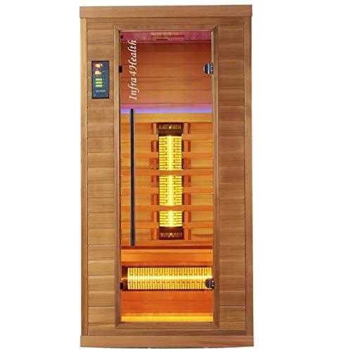 BP Infra 4 Health I-100 Infrarotkabine Sauna mit Zedernholz für 1 Person -