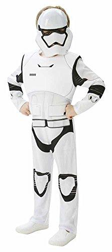 Preisvergleich Produktbild Rubies 3620269 - EP7 Stormtrooper deluxe child, 9-10 Jahre, weiß/schwarz