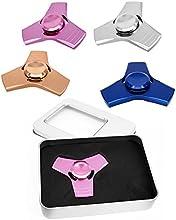 HuntGold Tri spinner fidget toy,Spinner Dedos de Aleación de aluminio para Relax Y Práctica de Niños Adultos