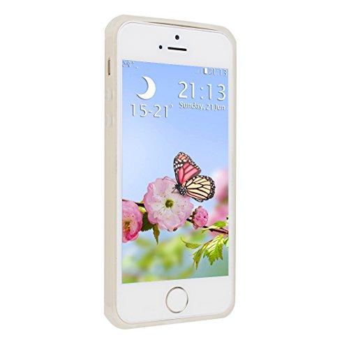 iPhone 5S Hülle, Asnlove Ultra Slim TPU Silikon Backcover Case Taschen Handy Schutzhülle Rutschfest für iPhone 5S / iPhone 5 / iPhone SE - Marine Style-5