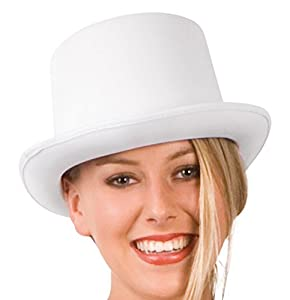 Long white hat with gala form for adults (gorro/sombrero)