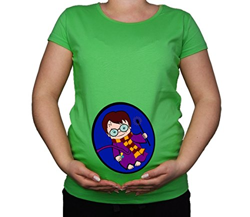 Colour Fashion Damen T-Shirt Gr. M, grün (T-shirt Maternity Mom)