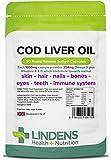 Lindens Olio di fegato di Merluzzo 1000mg PILLOLE confezione da 90 UK produttore