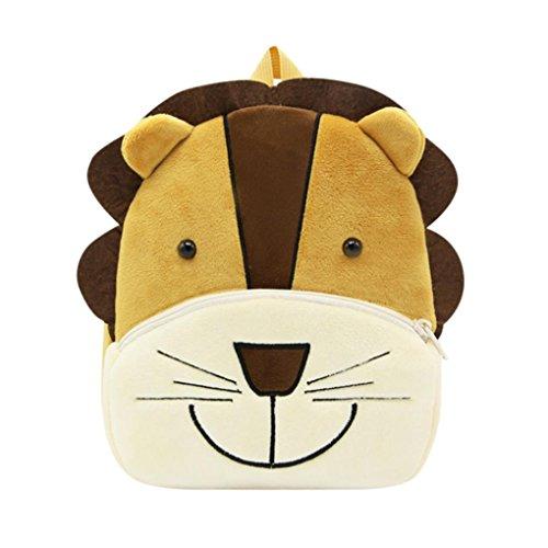 Winkey Rucksack für Kinder/ Baby, Mädchen und Jungen, niedlich, Schultasche, Umhängetasche Lion 26.5x24x10.5cm wide 20cm x height 24cm -