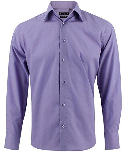 Enzo camicia uomo classica lilla regular fit confortevole e elegante con maniche lunghe taglia xl