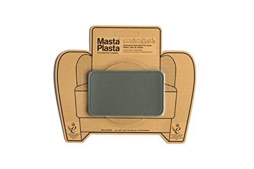 MastaPlasta Grey Self-Adhesive Leather Repair Patches. Choose Size/Design. First-aid for Sofas, car Seats, Handbags, Jackets etc. (Grey Plain 10cmx6cm)