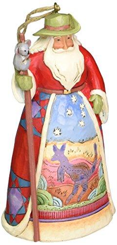Jim Shore Heartwood Creek von Enesco Weihnachtsmann, 12 cm Australien 4.75-Inch Mehrfarbig