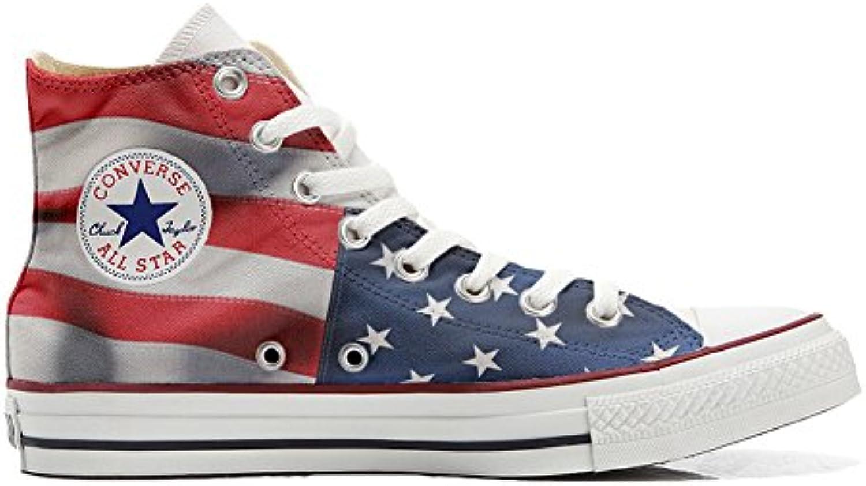 mys Converse All Star Customized Unisex   Personalisierte Schuhe (Handwerk Produkt) Usa England Japan Size 46 EU