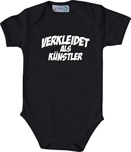 Babybody Karneval verkleidet als Künstler, Kostüme verkleiden, Farbe schwarz, Größe 74-80 (80 Künstler Kostüme)