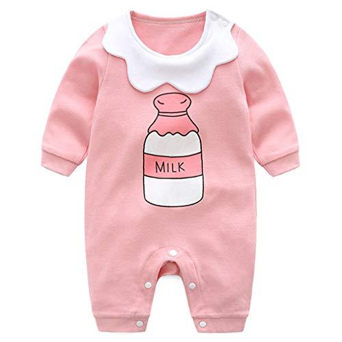 Baby Strampler Spielanzug Mädchen Schlafanzug Baumwolle Overalls Baby-Nachtwäsche, 3-6 Monate (Pyjama-3 Monate)