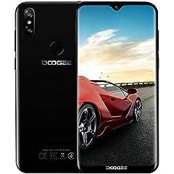 Télephone Portable débloqué Pas Cher 4G, DOOGEE Y8 2019 Smartphone Android 9,0 Mobile 6,1Pouces 19.9 HD+ Goutte d'eau, 3Go+16Go MT6739 Dual Nano SIM Dual 8+5MP Appareil Photo, FaceID Fingerprint Noir
