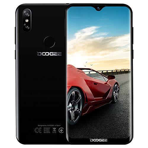 Télephone Portable débloqué Pas Cher 4G, DOOGEE Y8 2019 Smartphone Android 9,0 Mobile 6,1Pouces 19.9 HD+ Goutte d'eau, 3Go+16Go MT6739 Dual ... 4