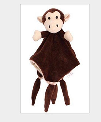 Tery Baby Kleinkind Spielzeug Kinderbett Spielzeug Nettes Spielzeug-Baumwollhandtuch-Weiches Handtuch-Baby-Tröster Spielt Plüsch _ Brown (Braune Tröster)