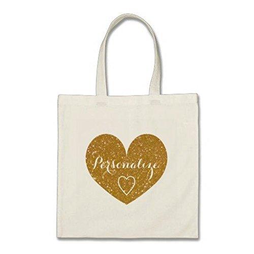 personalizzato-oro-glitter-cuore-cotone-borsa-di-tela