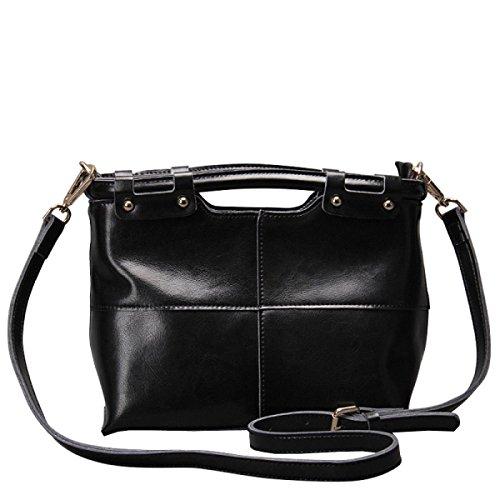 LAIDAYE Tracolla Della Borsa Retro Borsa Messenger Bag Black