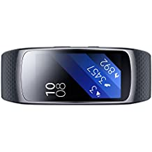 Samsung Gear Fit 2 - Pulsera de Fitness de 1.5'' (4 GB, 1 GHz, 512 MB RAM, Tizen, talla L), color negro