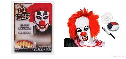 lown Kopfbedeckungsmesser, für Halloween, ikonischer IT Clown ()