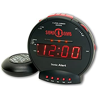 Sonic Bomb SBB500SS Loud Alarm Clock With Bed Shaker  UK Version
