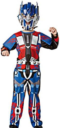 erdbeerloft -Jungen Karneval Komplettkostüm Transformers Optimus Prime Metallic Anzug, blau schwarz, 6-8 (Anzug Optimus Prime)