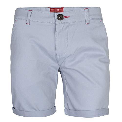 Herren Stretch Chino Shorts Slim Fit Bermuda Kurze Hose Strecken-Baumwolle (W32 (Taille: 84-86cm), Himmel Blau) -