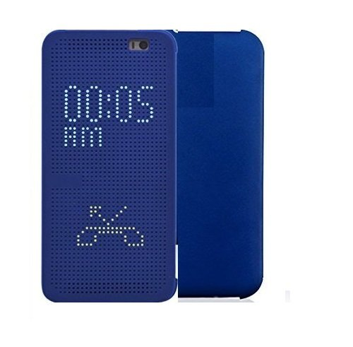 Kapa Dot View Touch sense Flip Back Case Cover for HTC Desire 820 - Imperial Blue