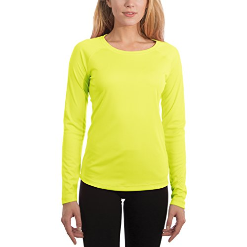 Vapor Apparel Damen UPF 50+ UV/Sonnenschutz Langarm Performance T-Shirt X-L Safety Gelb (Langarm-t-shirt Antimikrobielle)