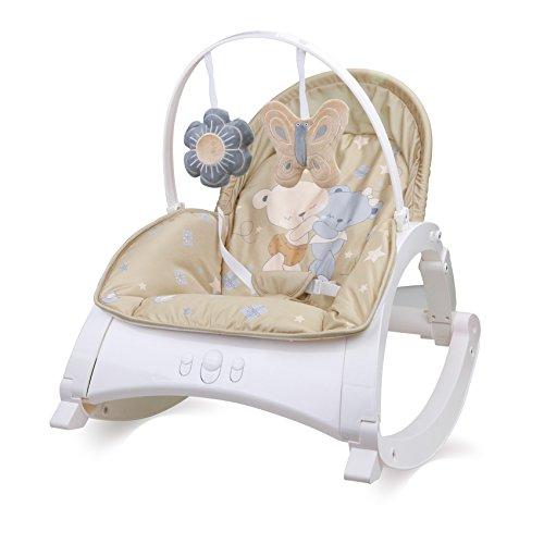 Lorelli Babywippe und Stuhl ENJOY mit Vibration, Musik, verstellbare Rückenlehne beige