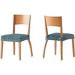 Pack de 2 Fundas de Asiento para silla modelo MEJICO, color AZUL, medida 40-50 cm ancho.