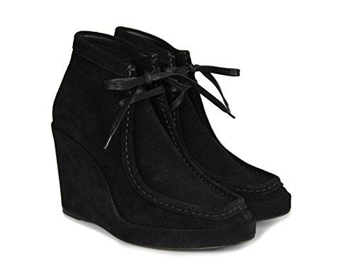 Compensées à lacets Balenciaga en peau Retournée noir - Code modèle: 391080 WAVK0 1000 Noir
