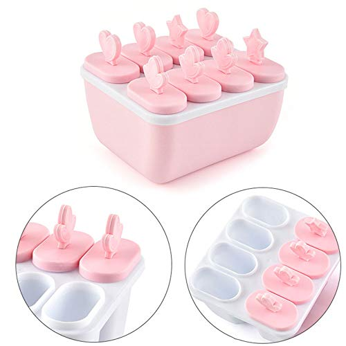 Ice Cream Mould - Popsicle Ice Cream Mold Frozen Icecream Maker Cube Mould Tray Pan Diy Sucker Popside Round Square - Lids Tubs Cream Freezer Disposable Girls