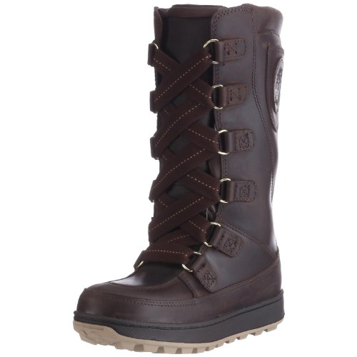Timberland Mukluk_Mukluk_8 In Lace Up WP, Mädchen Schneestiefel, Braun (Brown with Gold), 34 EU