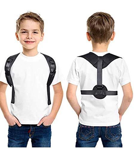 SKYIOL Geradehalter zur Haltungskorrektur Rückentrainer Schulter Rückenstütze Verstellbar Atmungsaktiv Leicht Schultergurt gegen Nacken -und Schulterschmerzen für Damen Herren Kinder, Schwarz