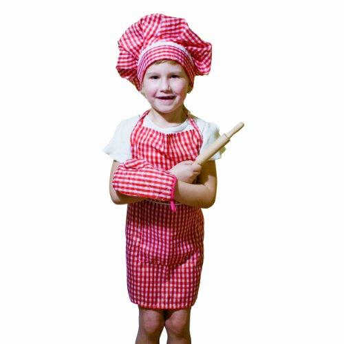 Imagen de bino 83387  disfraz para niños de cocinero 4 piezas