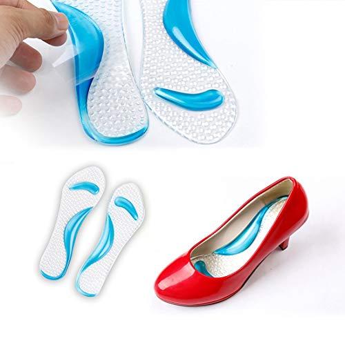 Rutschfeste 3/4 Länge Sandalen High Heel Arch Kissen Unterstützung Anti-Rutsch-Silikon-Gel-Einlegesohlen Schuhe Einsätze zufällige Farbe 1 Paar -