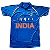HeadTurners Indian Cricket Team ODI Jersey T-Shirt for Kids, Boys and Men- Blue