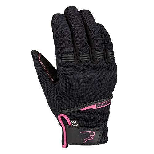 Bering Par guantes moto LADY Borneo Negro Fushia T5