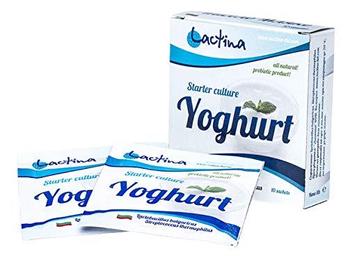 Cultivos de yogur - Paquete de 10 bolsitas de cultivo liofilizado para...