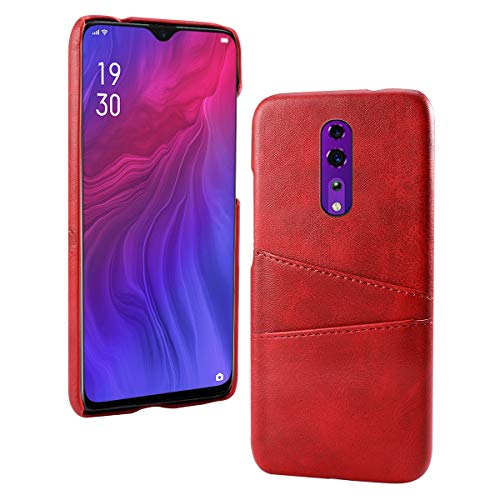 Obamono Card Holder Case Fit for Oppo Reno Z, Oppo Reno Z Cell Phone Cases Back Shell Wallet Case Slim Folio Leather Case Cover Shockproof Case with Card Slot, Durable Protective Case for