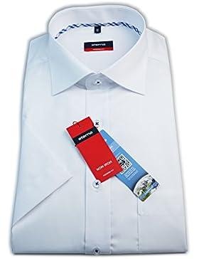 ETERNA Herren Kurzarm Hemd Modern Fit weiß mit Brusttasche 8258.00.C187