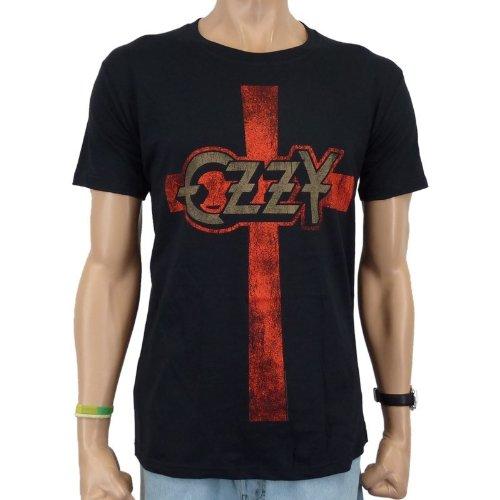 Ozzy Osbourne-T-shirt Cross band, Nero, M