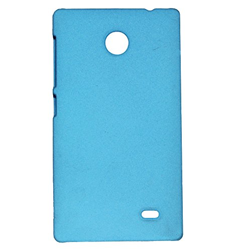 Heartly QuickSand Matte Finish Hybrid Flip Thin Hard Bumper Back Case Cover For Nokia X - Sky Blue  available at amazon for Rs.299