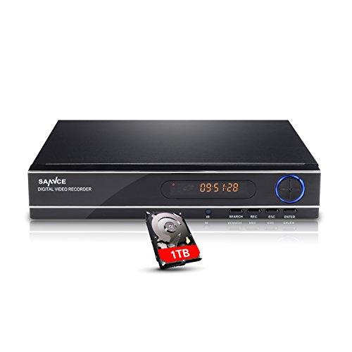 SANNCE DVR Recorder CCTV AHD Videoüberwachung 8CH 1080N Netzwerk Digital Video Recorder H.264 für Videoüberwachung Aufzeichnungsgerät Bewegungserkennung Fernüberwachung mit 1TB Festplatte