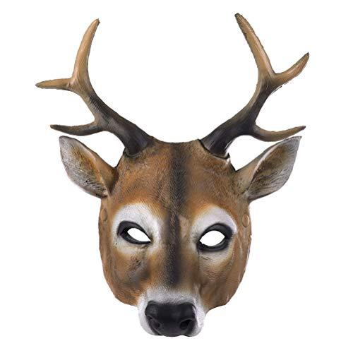NUOBESTY Adipositas Hirsch Maske Kostüm Prop Maske für Weihnachten Maskerade Cosplay Halloween Party