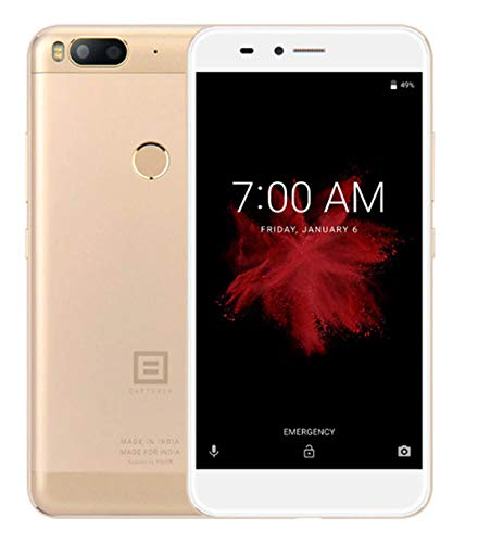 "Xifo Billion Capture (Finger Print Sensor) 4GB RAM with 5.5"",Display,4GB RAM (Reliance Jio 4G Sim Support) 64 GB Internal Memory and 13+13 MP Dual Rear Camera /16 Mpix Hd Smartphone in Gold Colour"
