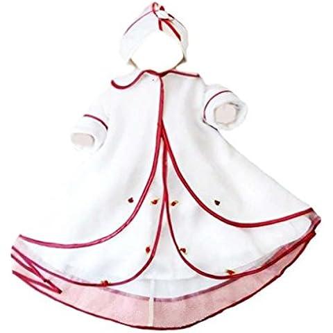 Bautizo vestido con abrigo de bebé chaqueta de abrigo de invierno vestidos de bautizo para el bautismo los niños niñas niño para bodas, tamaño 80 86 L09